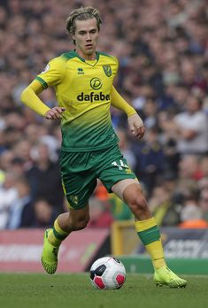 Todd Cantwell Photos - Todd Cantwell of Norwich City during the Premier League match between Norwich City and Aston Villa at Carrow Road on October 2019 in Norwich, United Kingdom. Norwich City Football, Norwich City Fc, Neymar, Carrow Road, Football Stickers, Aston Villa, Premier League Matches, Old Trafford, European Football