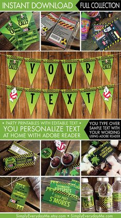 Ghostbusters Party Invitations & Decor Ghostbuster Birthday