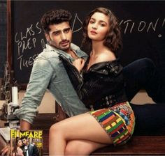 Photoshoot for Filmfare that's set in a college, Alia Bhatt and Arjun Kapoor turn up the heat! Bollywood Pictures, Bollywood Actress Hot Photos, Indian Actress Hot Pics, Indian Bollywood Actress, Actress Pics, Beautiful Indian Actress, Beautiful Actresses, Indian Actresses, Bollywood Fashion