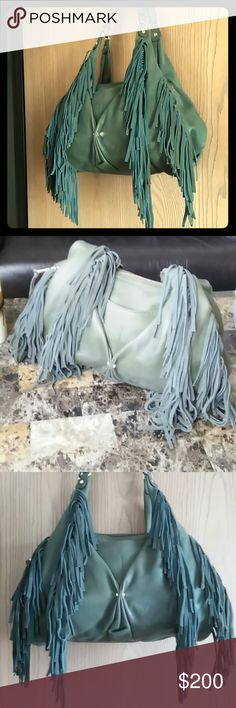 AIMEE KESTENBERG Olive color butter soft 100% leather.carried only once.in perfect condition. On trend bag.gold hardwear.absolutely beautiful bag. Aimee Kestenberg Bags Hobos