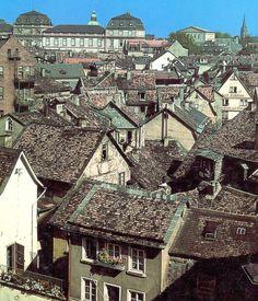 Darmstadt früher | die Dächer der Altstadt | by DerSüdhesse