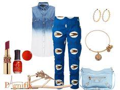 Idée de look - Pantalon bleu Stella Jean | Pagnifik