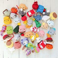 Amigurumi Advent Calendar Crochet-Along: Get Started Here! - One Dog Woof Crochet Toys Patterns, Crochet Patterns For Beginners, Amigurumi Patterns, Stuffed Toys Patterns, Crochet Designs, Ribbed Crochet, Crochet Beanie, Cute Crochet, Kawaii Crochet