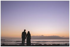 Maui Engagement Portraits at Sunset in Hawaii.