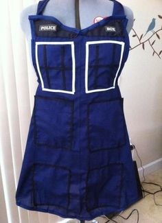 Dr Who apron by luv2right on Etsy, $36.00
