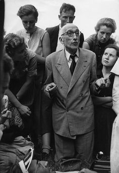 François Mauriac, 1953 by Marc Riboud Marc Riboud, Michel De Montaigne, World Photography, Photography Awards, Magnum Photos, Henri Cartier Bresson, Hermann Hesse, Nobel Literature, French Icons