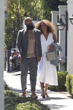 Solange Knowles and her husband, Alan Ferguson, are spotted at Gracias Madre Restaurant Black Love, My Black Is Beautiful, Beautiful People, Couple Style, Solange Knowles, Photo Couple, Couple Pics, Black Couples Goals, Stylish Couple