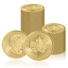 Zestaw 100 x Liść Klonowy 1 oz. - Złota moneta bulionowa