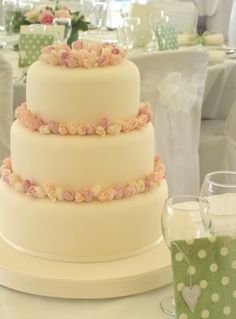 I know it's a wedding cake, but I think the rose buds would look lovely on a birthday cake or cupcakes!