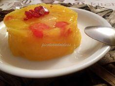 gelatina de naranja con frutas