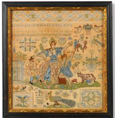 A Danish silk and metallic-thread needlework sampler, 1734