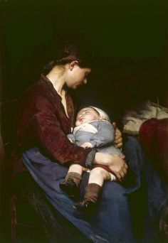 9 Trailblazing Female Painters of the Century You Really Should Know About Elizabeth Nourse, A Mother Courtesy of the Cincinnati Art Museum. Mother And Child Painting, Cincinnati Art, Illustration, Mothers Love, Beautiful Paintings, American Artists, Love Art, Art Museum, Oil On Canvas