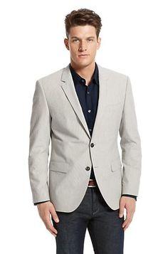 #engagementparty Hugo Boss Modern Fit Seersucker Sportcoat. $595. Casually Charming. @Hugo Ahlberg BOSS