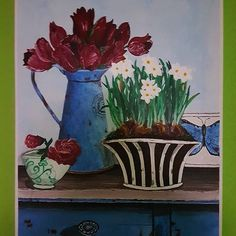 #art #pain #painting #flowers #kvet #kvety #hydrangea  #acrylics #acryl #colors #color #krasa #nice #blue #modra #white #love #smile #fantázia #fantasy #obrazok  #musicmyheart #vintage #tulips #malba #milujemmaľovanie #milujem Country Blue, Ipad, Blue And White, Painting Flowers, Fantasy, Acrylics, Hydrangea, Tulips, Instagram Posts