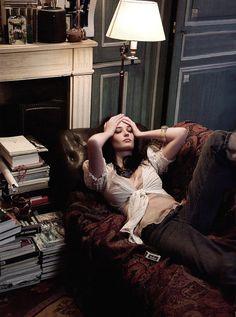 """Belle De Jour""  Elle, March 2005  photographer: Gilles Bensimon  Eva Green"