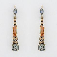 """City Neutral Crystal Drop Earrings - if you like long earrings these will become your """"go to earrings"""" grabbed these for myself - actually two, one went down the bathroom drain"""
