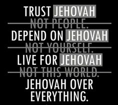 Depend on Jehovah. Live for Jehovah. Jw Bible, Bible Truth, Bible Scriptures, Caleb Et Sophia, Jehovah S Witnesses, Jehovah Witness Bible, Jehovah's Witnesses Humor, Jw Humor, Spiritual Encouragement