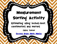 This sorting activity is a fun way to reinforce estimating measurement for objects in both the metric and US measurement systems.