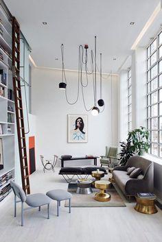 kreative wohnzimmergestaltung mit ausgefallenen leuchten - Fantastisch Wohnzimmergestaltung Modern
