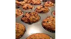 Bananas and chocolate chips enrich these easy muffins made with rolled oats and whole wheat flour.