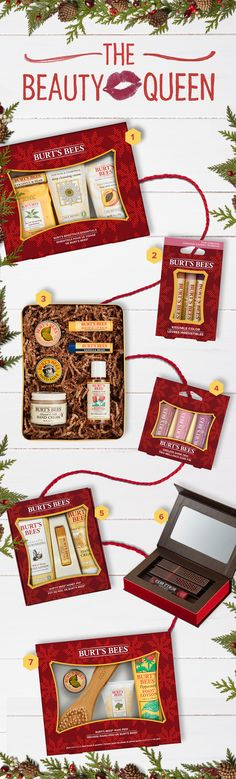 2016 Holiday Gift Guide for the Beauty Queen | The Beauty Queen may be known for her trendy style and flawless skin, but little does she know that all-natural can be all-colorful. Help her add to her collection of shades with Burt's Bees skin and beauty products.