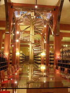 Salón Social de #bodega Pagos del Rey en #rutavinoribera, visita a bodega y #cata de #vinos