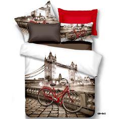 3d gedruckt London Bridge 7-tlg designer-bettwäsche-sets baumwolle bettwäsche bettwäsche bettbezug tröster setzt königin kingsize(China (Mainland))