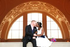 {    YOU'LL FORGET ALL ABOUT FANCY WEDDINGS WHEN YOU SEE THIS COUPLE'S CITY HALL NUPTIALS    }