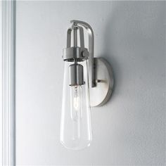 Bulb Glass Vial Wall Sconce x 2 at $99/each from Shades of Light, also come in black.