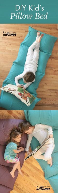 DIY Kid's Pillow Bed