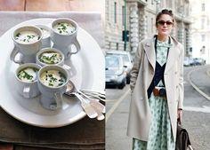 Miss Moss: Food photo by Jason Lowe / style photo via The Sartorialist