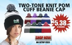 Promotional Two Tone Knit Beanie Cap