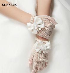 2016 new flowers girls gloves , children gloves , short ivory gloves for children , gloves with bow
