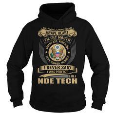 Nde Tech Brave Heart Job Title TShirt