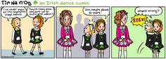 Beginner Irish dancers looking up to the champs.  Adorable.