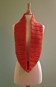 Crochet infinity scarf, crochet cowl, crochet eternity scarf, crochet circle scarf, orange infinity scarf, infinity scarf, orange scarf