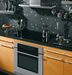 A playful backsplash can add character to your contemporary or traditional kitchen.