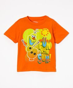 Look at this #zulilyfind! 'Fun in the Sun' Olaf Tee - Toddler by Children's Apparel Network #zulilyfinds @mdmesteller For Jonas?