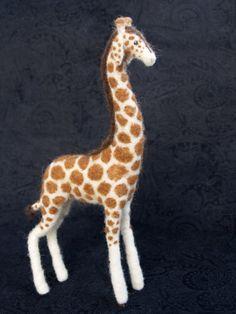 Custom Giraffe - Needle Felted Wool Sculpture on Etsy, $250.00