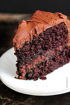 The Best Chocolate Cake recipe with decadent Chocolate Frosting that will quickly become your favorite!
