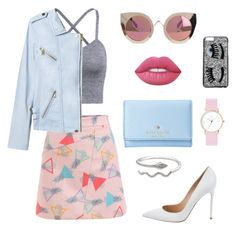"""Pastels"" by celiacrokaert on Polyvore featuring mode, Gianvito Rossi, Kate Spade, Quay, Lime Crime, Chiara Ferragni en Rebecca Taylor"