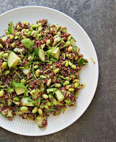 Avokadosalat med sort quinoa - opskrift på nem og lækker avocadosalat