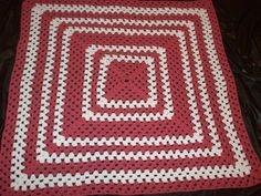 Baby Girl Pink Crocheted Baby Blanket by Freshofftheneedle on Etsy, $25.00