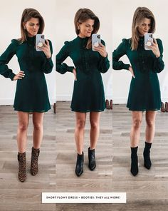 Talking about how to wear ankle boots and giving you oodles of outfit inspiration from wearing ankle booties with leggings to cuffed jeans and more! Ankle Boots With Leggings, Leopard Ankle Boots, How To Wear Ankle Boots, Ankle Boots Dress, Booties Outfit, Dress With Boots, Ankle Booties, Winter Dress Outfits, Winter Fashion Outfits