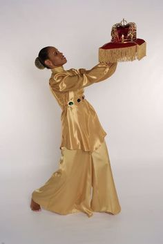 Note: High Neck L/S Gold leotard, Crepe Satin Palazzo Pant and Crown (Not Included) Praise Dance Wear, Praise Dance Dresses, Dance Costumes Lyrical, Lyrical Dance, Jazz Dance, Dance Class, Dance Mom Shirts, Garment Of Praise, Dance Outfits