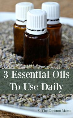 There are several essential oils to use daily. I pull peppermint out when I have sore muscles, lavender for relaxation and Frankincense for my skin!