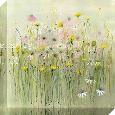 Buy Sue Fenlon- Wild Flower Meadow Print On Canvas, 40 x 40cm online at JohnLewis.com - John Lewis