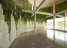 Stacked Landscape by Teresita Fernández. Located in the #USF College of Nursing rotunda.