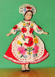 Hungarian Doll.in flowered dress amazing