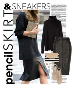 """pencil skirt & sneakers"" by reginakos ❤ liked on Polyvore featuring La Garçonne Moderne, River Island, adidas, Stella & Dot, Kelly Wearstler, Repossi, Wallis, StreetStyle, TrickyTrend and pencilskirt"